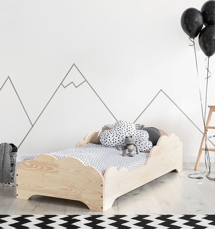 Drewniane łóżko dziecięce Lexin 10X - 21 rozmiarów