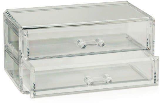 Kela - safira - pudełko z szufladkami, przezroczyste