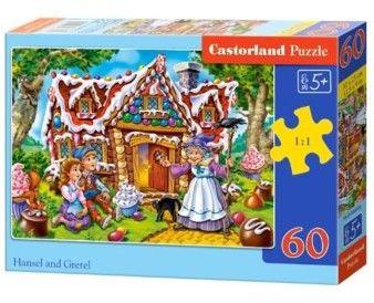 Puzzle Castor 60 - Jaś i Małgosia, Hansel and Gretel