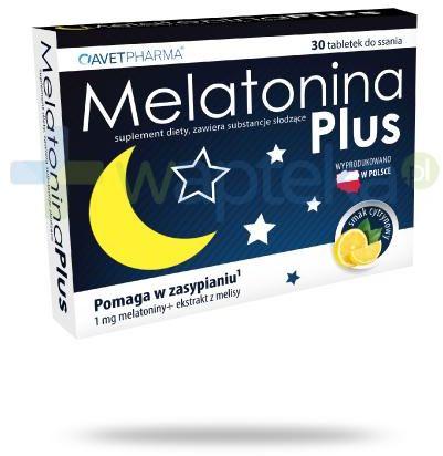 Melatonina Plus smak cytrynowy 30 tabetek