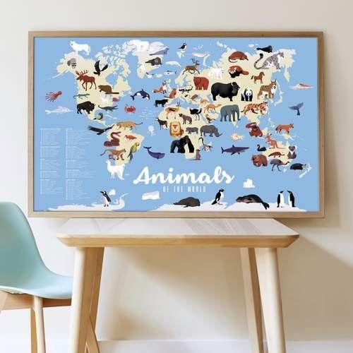 Poppik - Plakat Wyklejanka Zwierzęta Świata