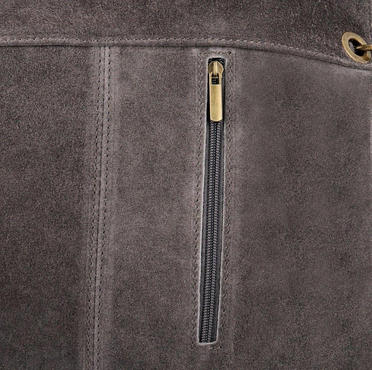 Uniwersalne Torebki Skórzane w rozmiarze XL do noszenia na co dzień firmy Vittoria Gotti Szara (kolory)