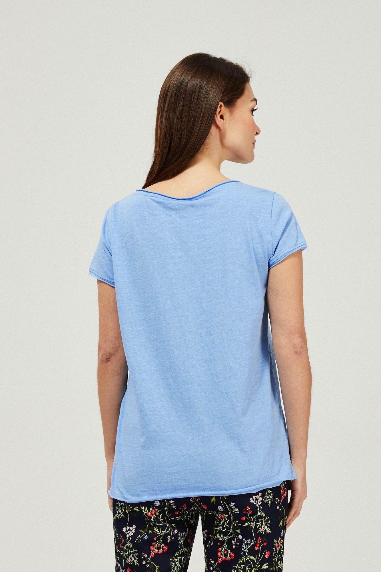 T-shirt basic z kieszonką