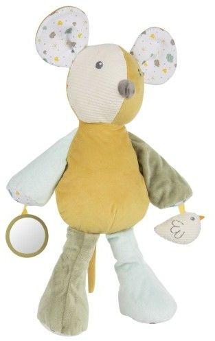 Canpol babies pluszowa przytulanka dla niemowląt z piszczkiem MOUSE
