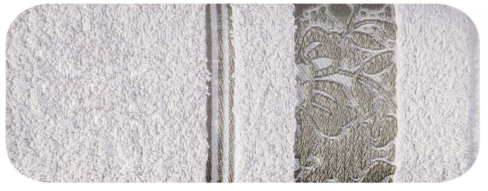 Ręcznik Kąpielowy Eurofirany Sylwia 04 500 g/m2 Srebrny 50x90