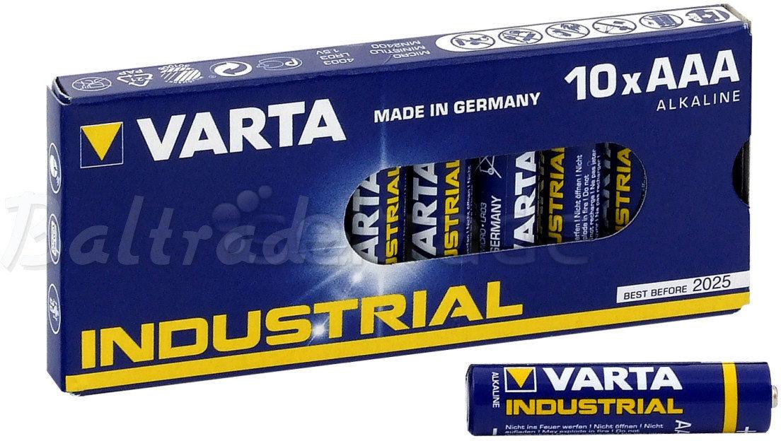 Baterie alkaliczne Varta Industrial LR03/AAA 4003 (taca)