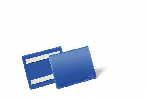 Kieszeń magazynowa samoprzylepna A6 pozioma DURABLE niebieska 50szt. 1763 07