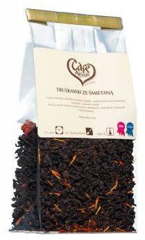 Herbata liściasta czarna Truskawki ze śmietaną 50 g Cafe Mon Amour