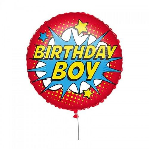 Balon foliowy Birthday Boy, Cartoon