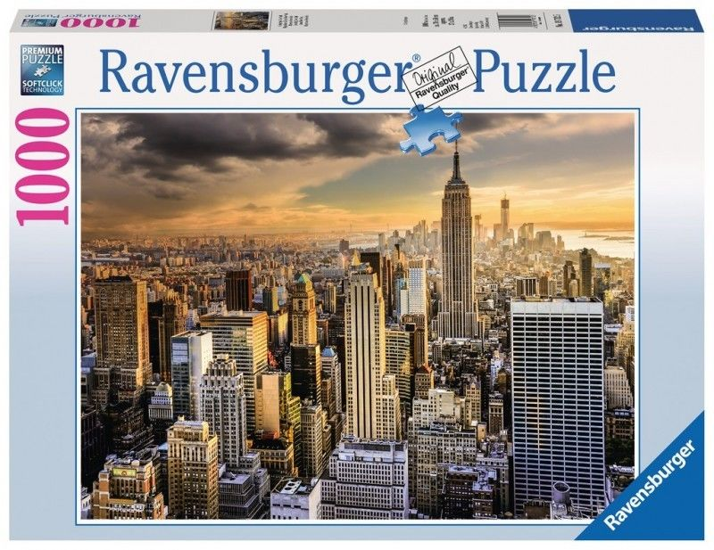 Puzzle Ravensburger 1000 - Drapacze chmur Nowy Jork, Skyscrapers of New York