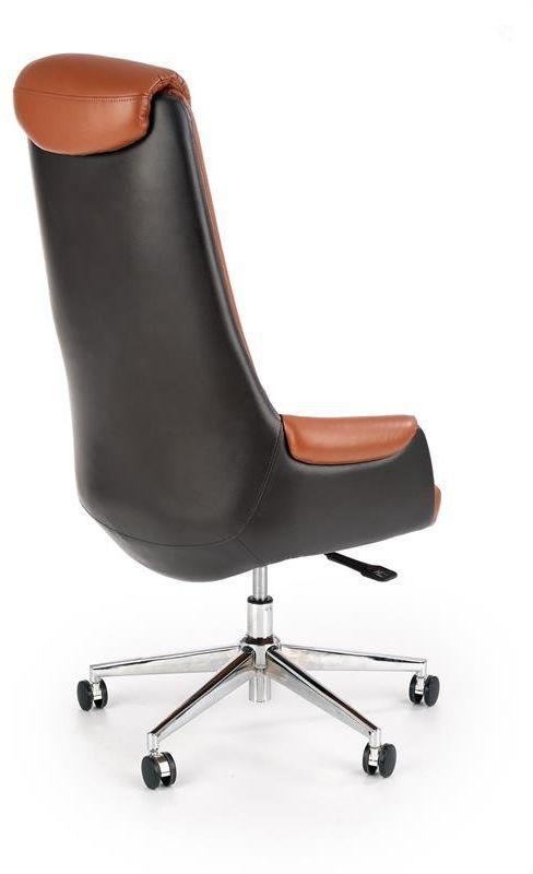 Fotel biurowy CALVANO brązowy tapicerowany ekoskórą  KUP TERAZ - OTRZYMAJ RABAT