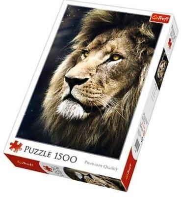 Puzzle TREFL 1500 - Portret lwa, Lions portrait