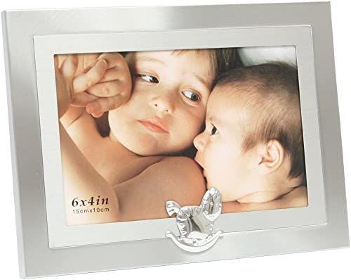 Deknudt Frames S58MM6 Fun & Deco 10x15 srebrny + koń na biegunach kamień łupkowy Fun & Deco