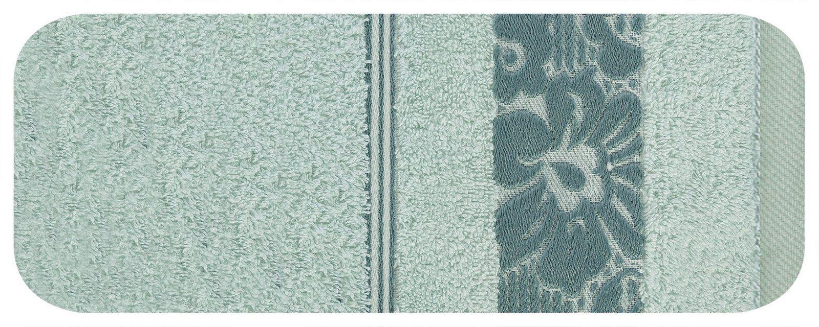 Ręcznik Kąpielowy Eurofirany Sylwia 08 500 g/m2 Błękitny 50x90