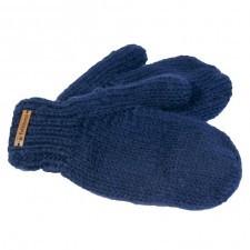 Rękawiczki wełniane z jednym palcem granatowe