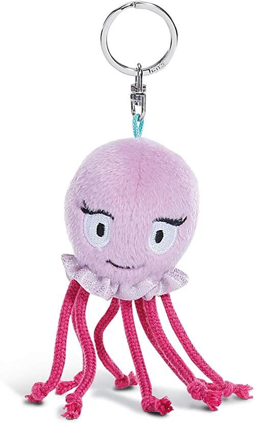 NICI Breloczek do kluczy Oktopus 10 cm  pluszowe zwierzątko ośmiornica zawieszka z kółkiem na klucze do smyczy na klucze, brelok do kluczy i łańcuszka na klucze  zawieszka do torebki  45352