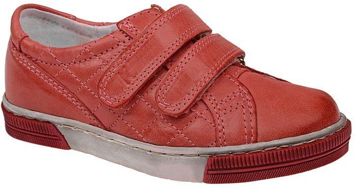 Sneakersy Półbuty KORNECKI 3370 Czerwone Skóra Naturalna na rzepy