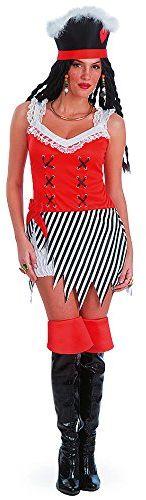 Carnival Toys 83207  piratka, damski kostium z kapeluszem, M
