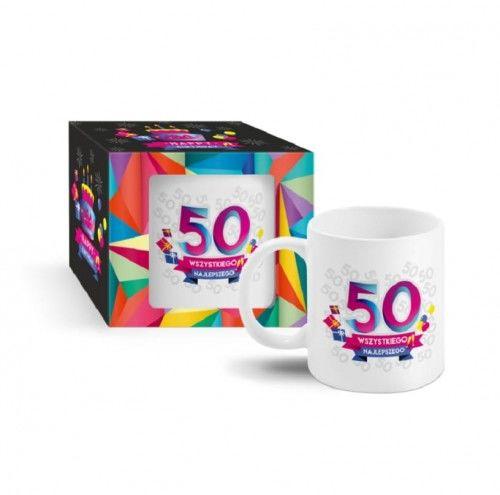 Kubek na 50 urodziny URODZINOWA GEOMETRIA