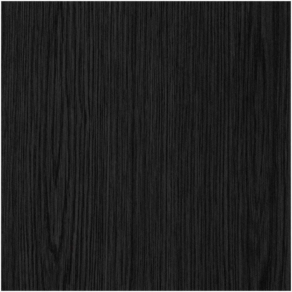 Okleina DREWNO czarna 90 x 210 cm imitująca drewno