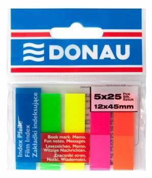 Zakładki DONAU PP 12 X 45 mm 5 kolorów po 25 kartek - X08138