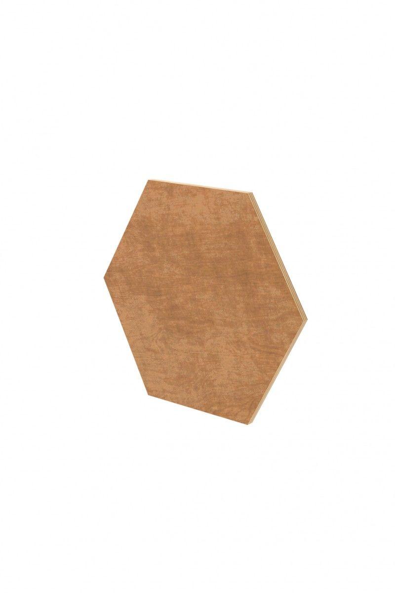 Panel ścienny hexagon duży sosna - nuki