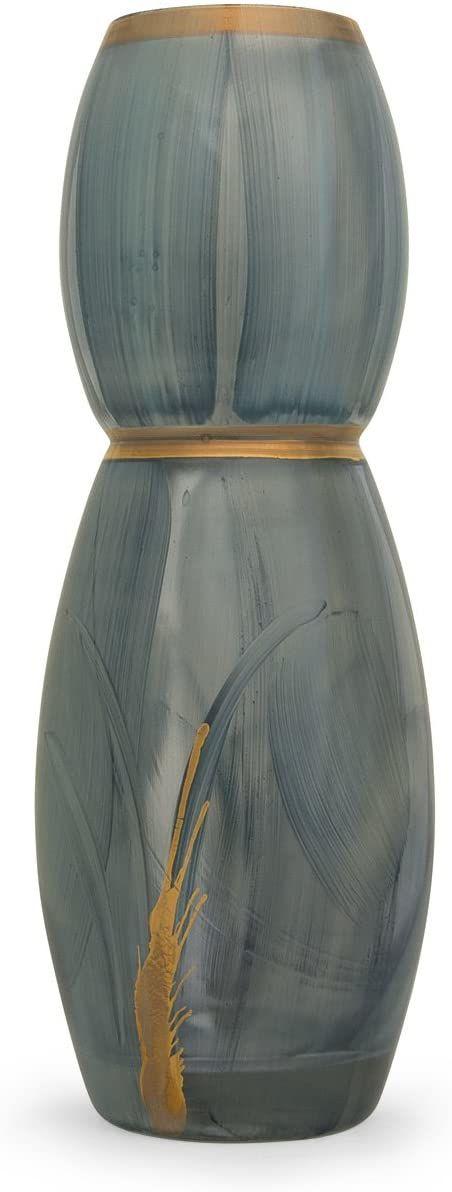Angela neue Wiener Werkstaette Szklany wazon uszlachetniony, szkło, turkusowy/niebieski, 9 x 9 x 25 cm