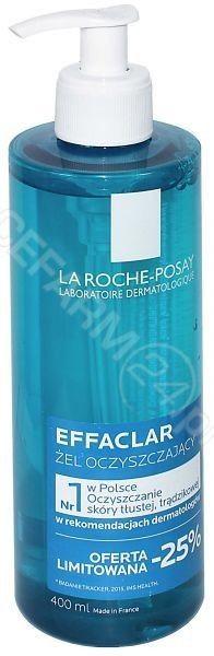 La Roche-Posay Effaclar Effaclar dogłębnie oczyszczający żel do skóry tłustej i wrażliwej 400 ml + do każdego zamówienia upominek.