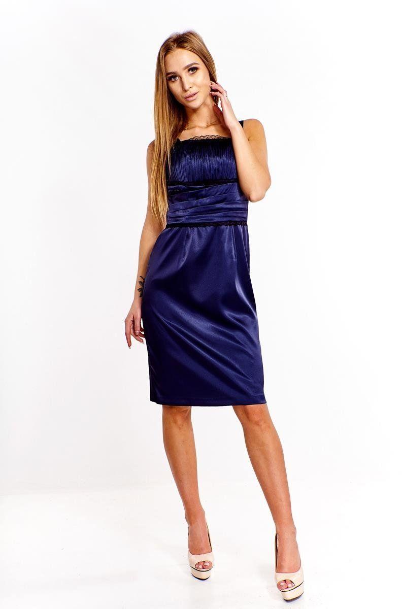 Sukienki Sukienka Suknie FSU244 GRANATOWY