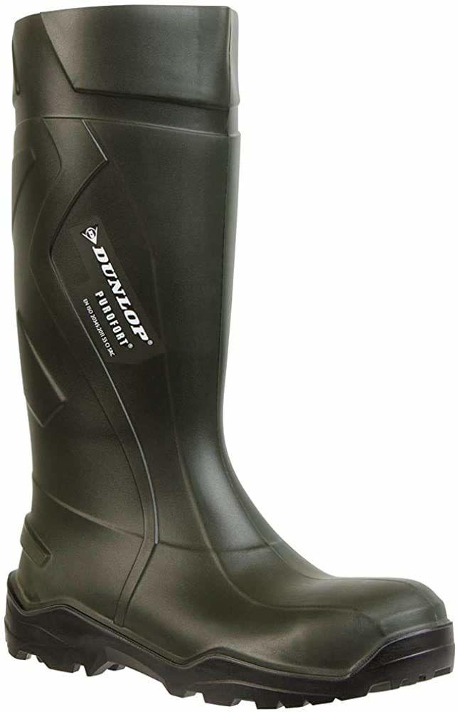 Dunlop C762933 S5 PUROFORT+ kalosze gumowe, uniseks, kolor ciemnozielony/czarny, 46 EU