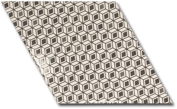 Rhombus Wall B&W Pattern 15,2x26,3