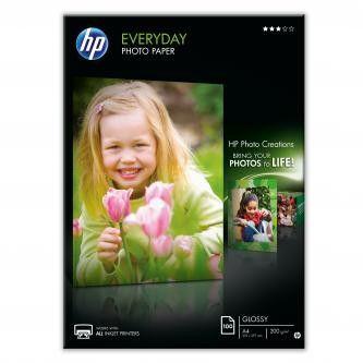 HP Q2510A Everyday Glossy Photo Paper, papier fotograficzny, błyszczący, biały, A4, 200 g/m2, 100 szt.