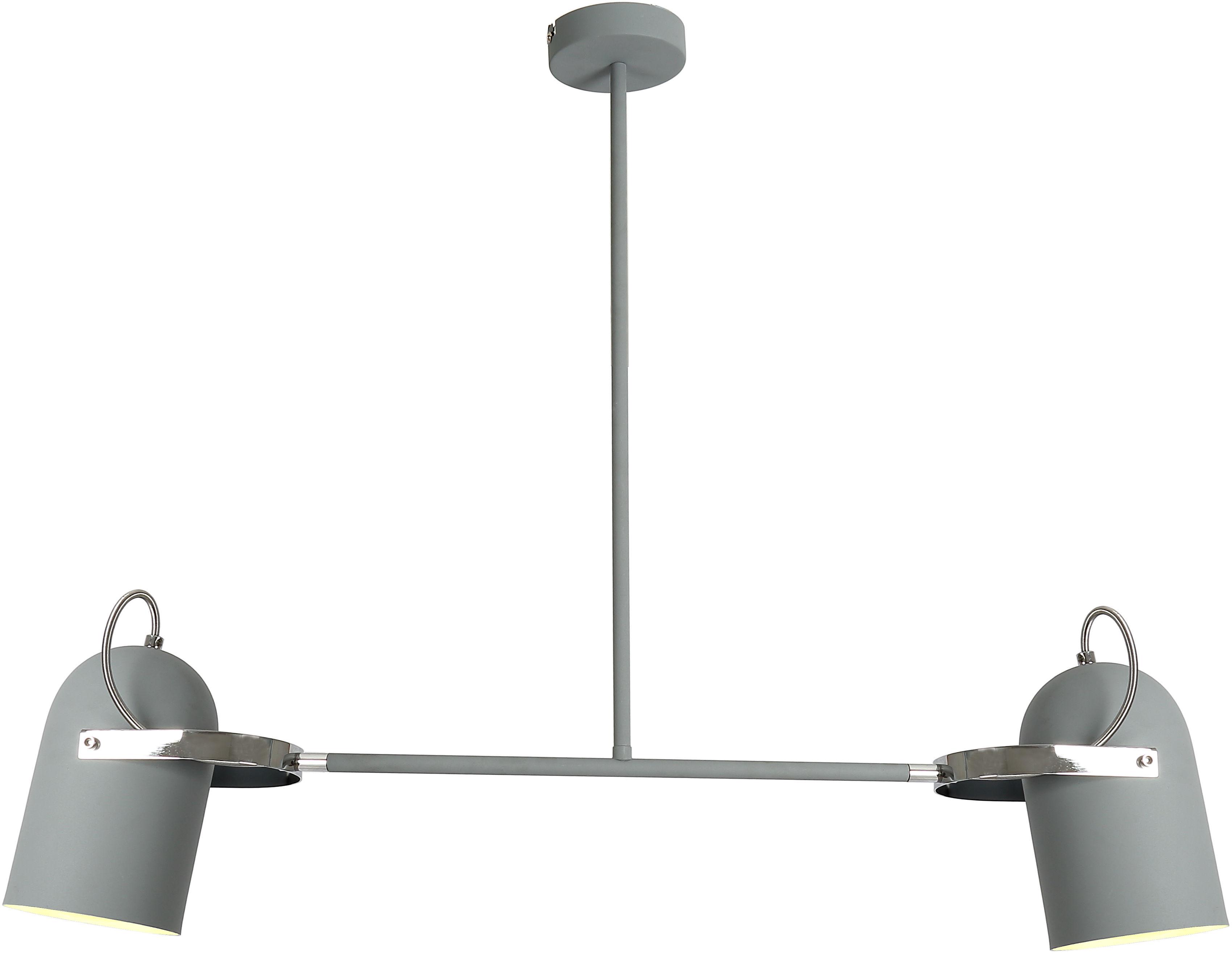 Candellux GRAY 32-66510 lampa wisząca szary klosz metalowy 2X40W E27 92cm