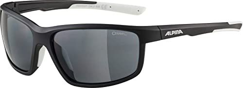 ALPINA Unisex - Dorośli, DEFEY Okulary sportowe, black-white matt/black, One Size