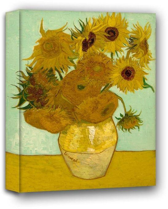 Słoneczniki, vincent van gogh - obraz na płótnie wymiar do wyboru: 90x120 cm
