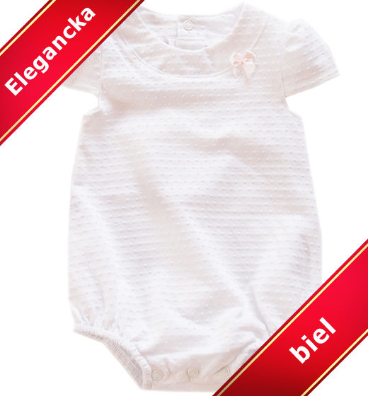 Body niemowlęce białe Suzana