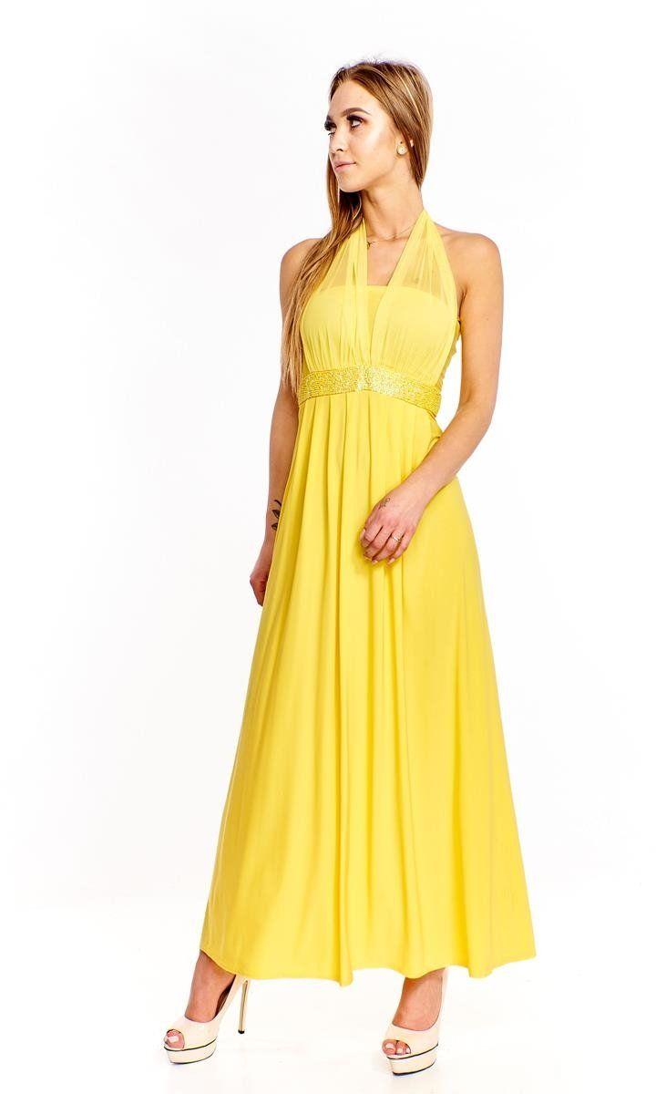 Sukienki Sukienka Suknie FSU111 ZÓŁTY