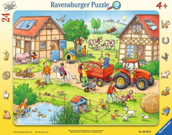 Puzzle ramkowe 24el Moja mała farma 065820 RAVENSBURGER (RAP 065820)