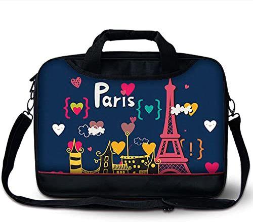 Luxburg Luksusowa designerska torba biznesowa z paskiem na ramię z uchwytem na laptopa 15-calowy - piękny Paryż