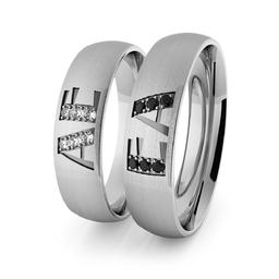 Obrączki srebrne klasyczne 5 mm z inicjałami - 80