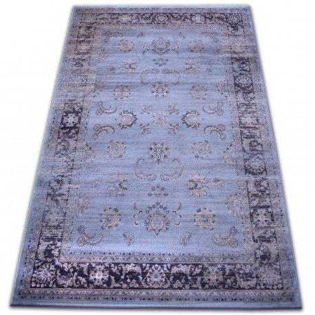 Dywan heat-set Jasmin 8628 niebieski 60x100 cm