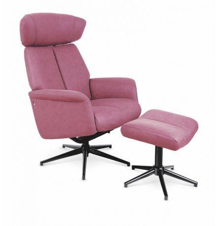Fotel rozkładany VIVALDI ciemny róż