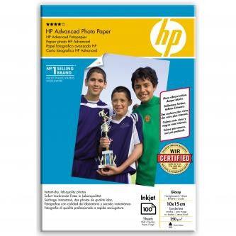 """HP Q8692A Advanced Glossy Photo Paper, papier fotograficzny, błyszczący, biały, 10x15cm, 4x6"""", 250 g/m2, 100 szt."""