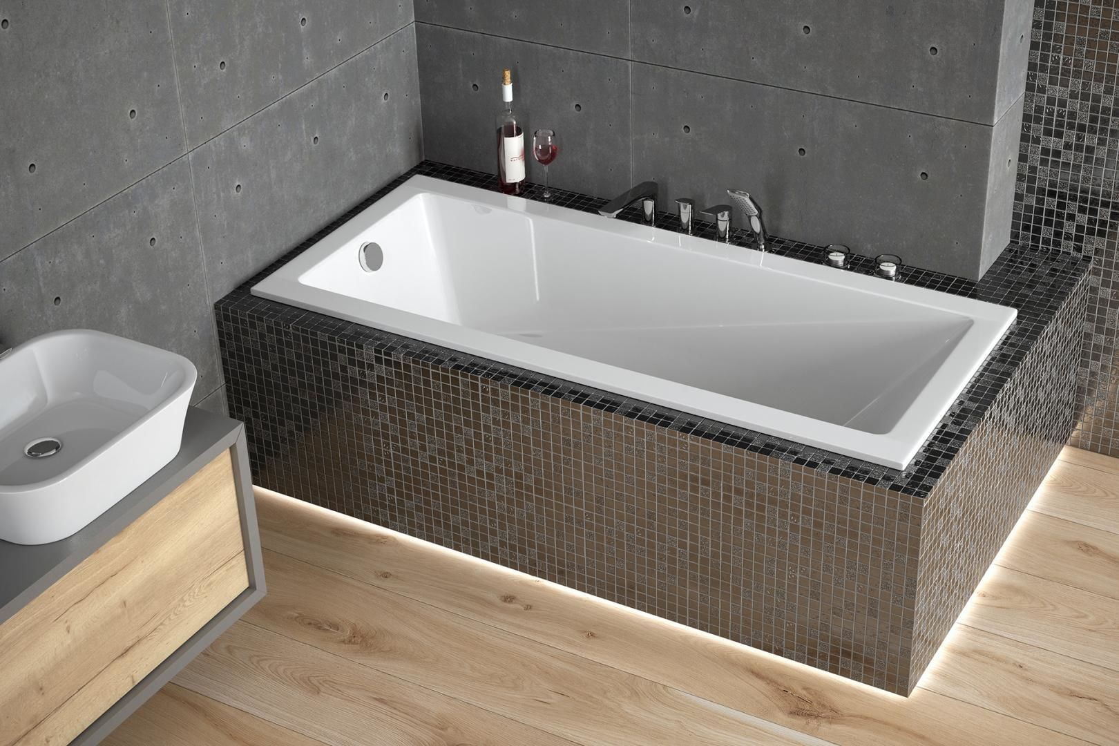 Besco wanna prostokątna Modern Slim 180 x 80 WAM-180-SL