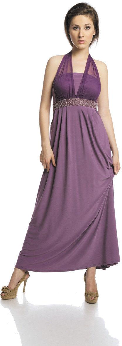 Sukienka FSU111 ŚLIWKOWY JASNY
