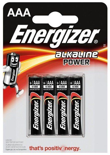 Baterie alkaliczne Energizer Alkaline Power LR03/AAA (blister) 4 sztuki