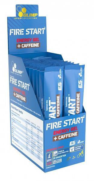 Olimp Fire Start Energy Gel+Caffeine czarna porzeczka