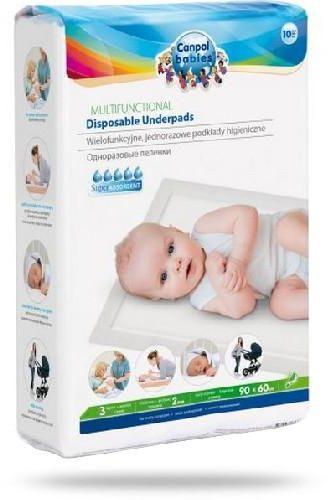 Canpol Babies wielofunkcyjne jednorazowe podkłady higieniczne 90 x 60 cm 10 sztuk [78/002hit]