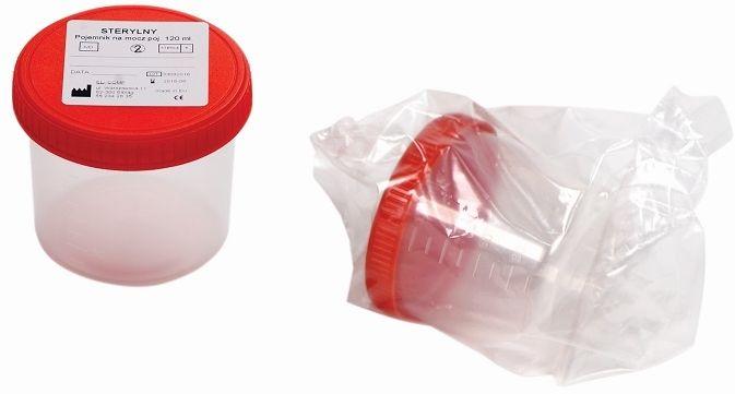 NOVAMA U-cup 120 ml/ 200 szt Pojemnik na mocz, sterylny, zakręcany z etykietą