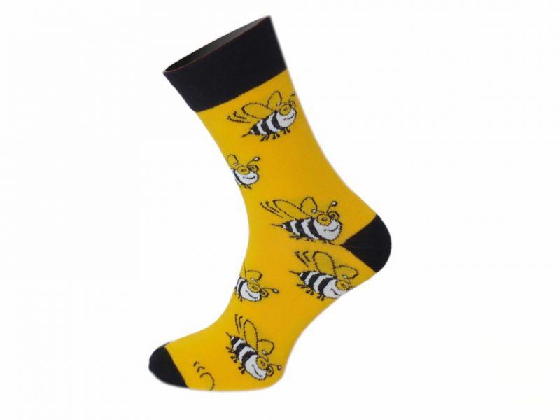 Kolorowe skarpety unisex żółte pszczoły produkt polski